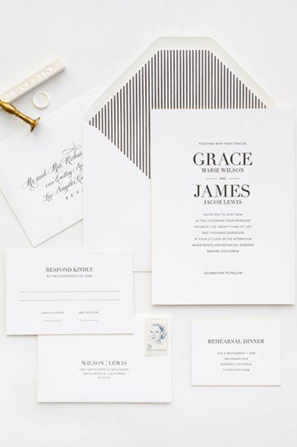 26 Stunning Wedding Invitation Ideas Pinterest Design Graphique