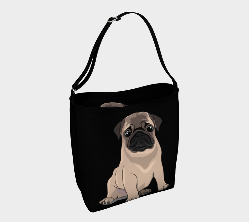 Pug Dog Face Tote Shopping Bag For Life Pugs Dogs