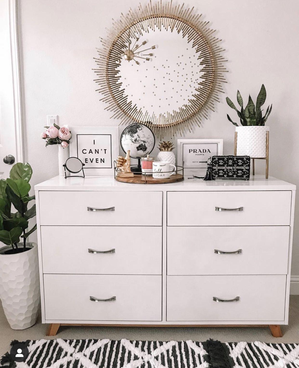 Modern Girl S Bedroom Dresser Decor Bedroom Bedroom Decor Home Decor