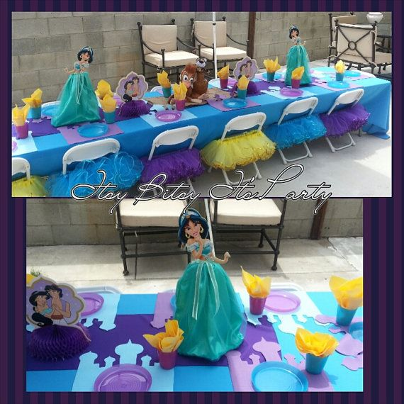 Castle Place Mat Princess Jasmine Birthday Party In 2019