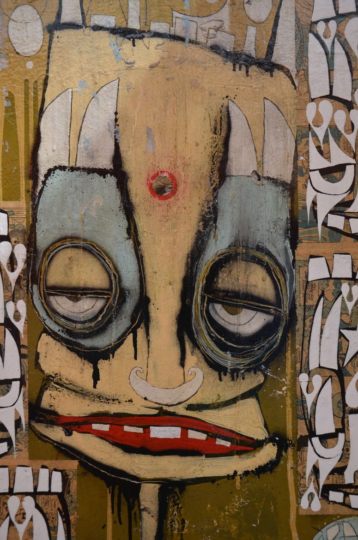 Street Art in Neal Yard, Covent Garden, London haha he makes me ...
