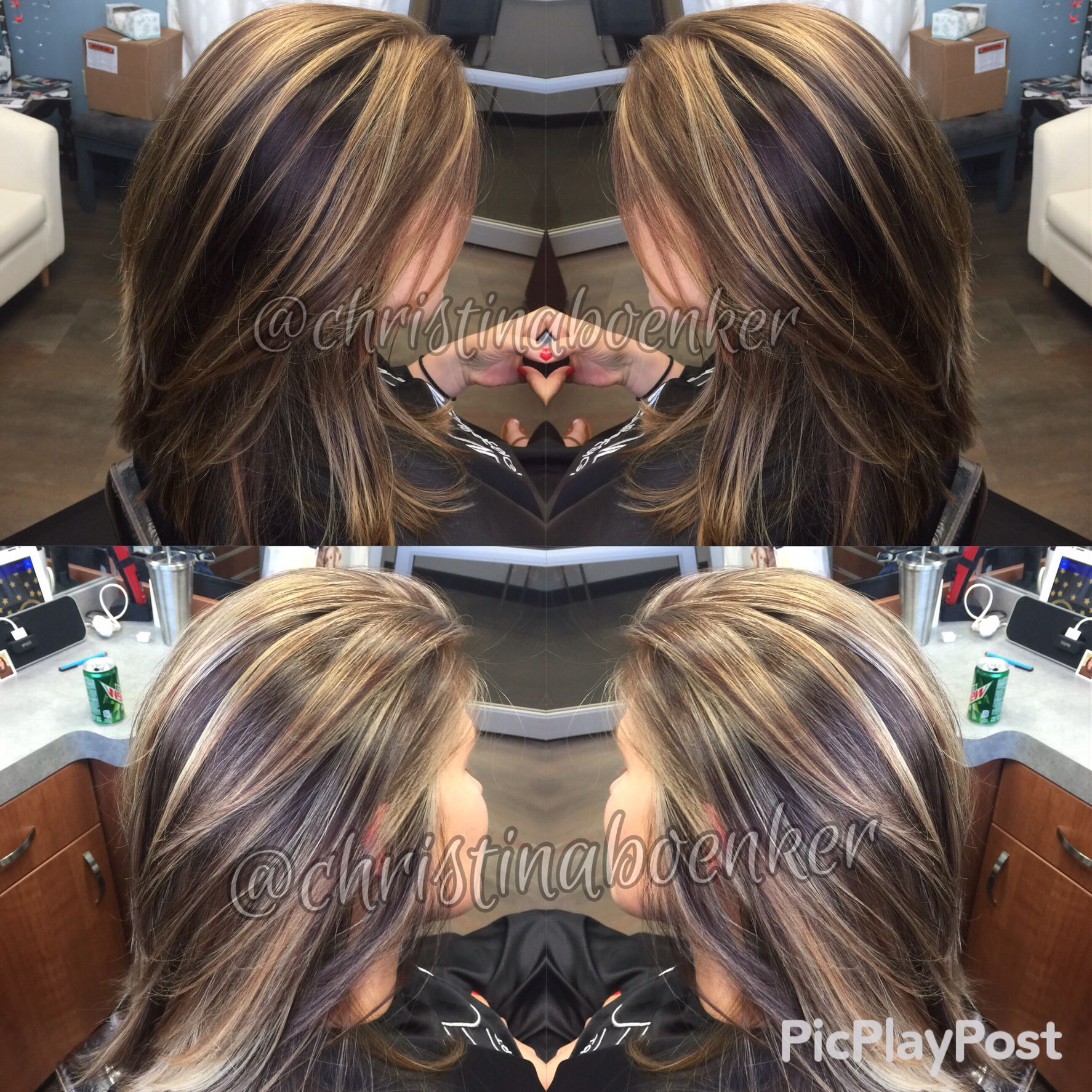 Chocolate Brown And Light Caramel Multi Dimensional Blonde