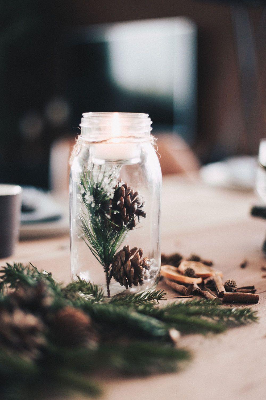 Einfach Aber Stilvoll Unser Weihnachtlich Gedeckter Esstisch