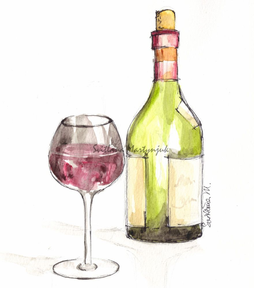 painting labels on wine bottles in watercolor | Practice ...