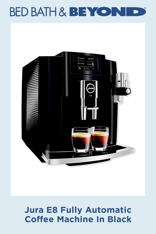Jura E8 Fully Automatic Coffee Machine In Black