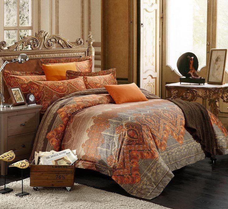 Burnt Orange Comforter Sets Amazing Brown And Burnt Orange Bedding 25 For Luxury Duvet Covers Decorat Comforter Sets Brown Comforter Sets Pink And Gold Bedding