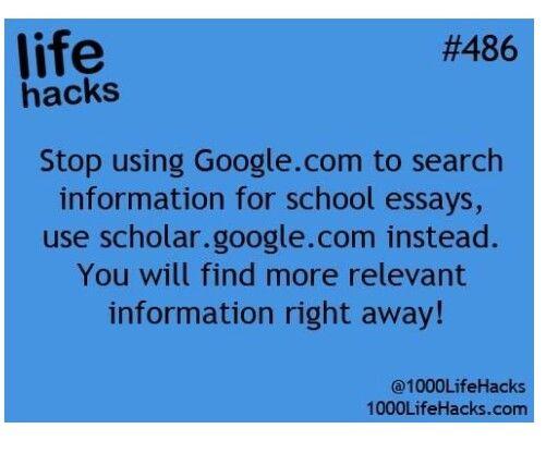 scholar google com for info for school essays