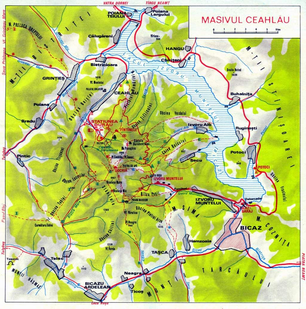 Muntii Apuseni Harta Rutiera Hartă