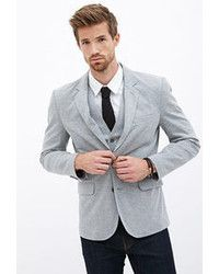21men 21 Heathered Knit Blazer