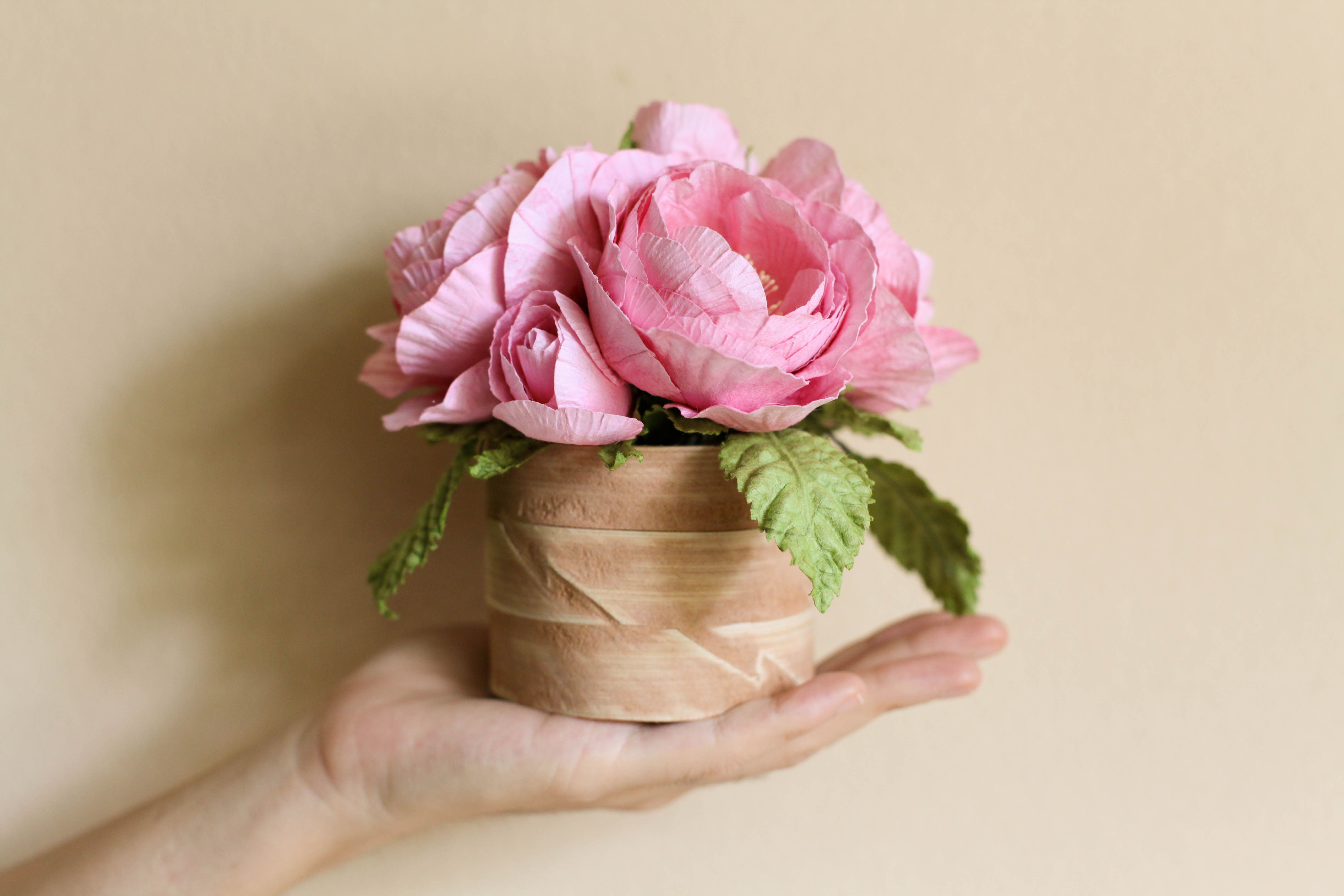 Blog / Portfolio / Paper Flowers Wholesale Flowers : Bamboo Gift box ...