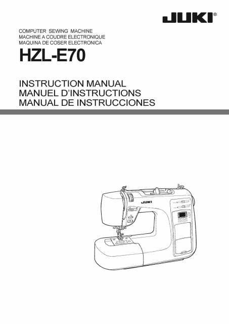 Juki HZLE40 Computerized Sewing Machine Instruction Manual Sewing Magnificent Juki Industrial Sewing Machine Instruction Manual