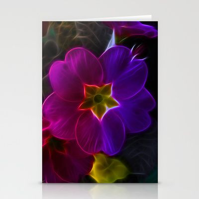 Primula Rainbow Stationery Cards by Fiona & Paul Photography and Digital Art - $12.00