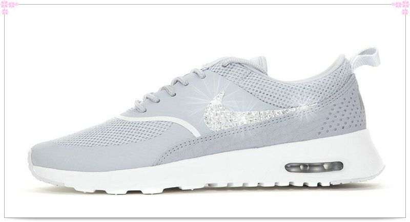 Over 70% Discount Off Popular 2017 Fashion glitter kicks Nike Air Max Thea  Crystallized Swarovski fbe3729c32