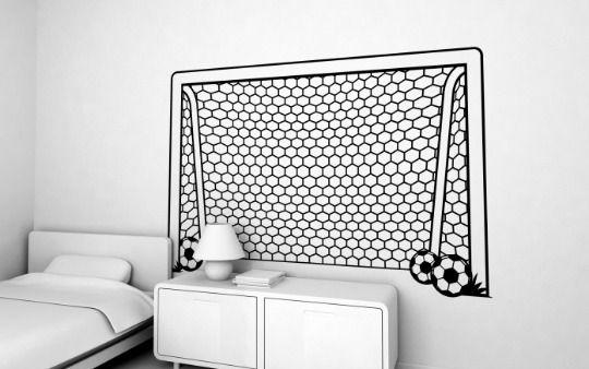 Porteria vinilo decoracion porter as de f tbol for Decoracion de cuartos de ninos de futbol