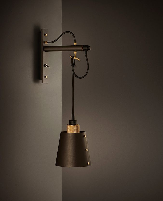 HOOKED Wall / small by Buster + Punch. knurled brass / matte rubber / bronzed gun metal www.busterandpunch.com