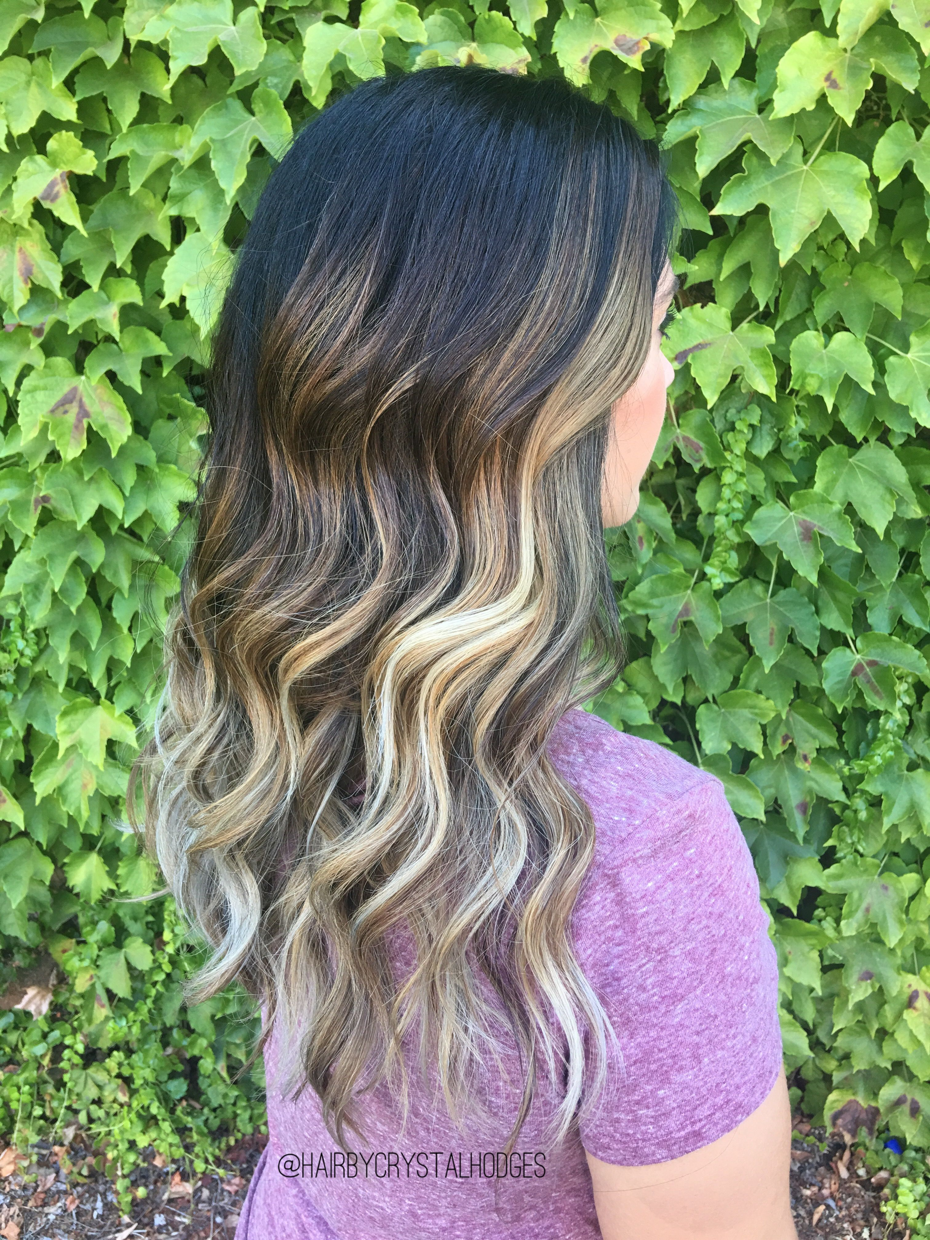 Balayage hair by crystal Hodges Tangled salon & boutique Oroville Ca