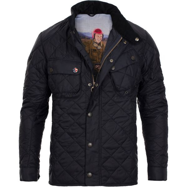 Veste Matelassee Homme Barbour Quilted Lutz Marine