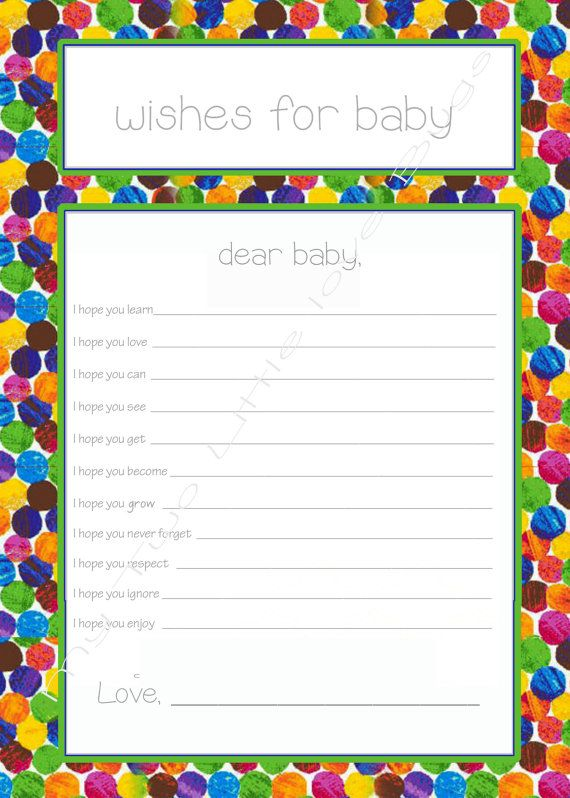 wishes for baby printable the very hungry caterpillar theme, Baby shower invitations