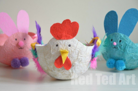 Get crafting easter craft ideas for toddlers http easter baskets negle Images