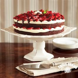 Strawberry Brownie Torte   Recipe   Strawberry brownies ...