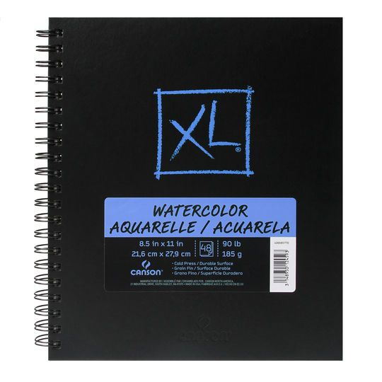 Canson Xl Hardcover Watercolor Pad Mixed Media Blending