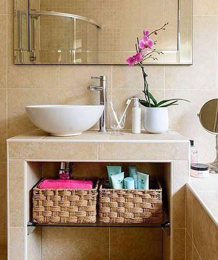 Organización y decoración de espacios de belleza Baños Pinterest - decoracion de espacios pequeos