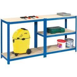 Photo of Sz metal heavy duty shelf brown / blue sz metal