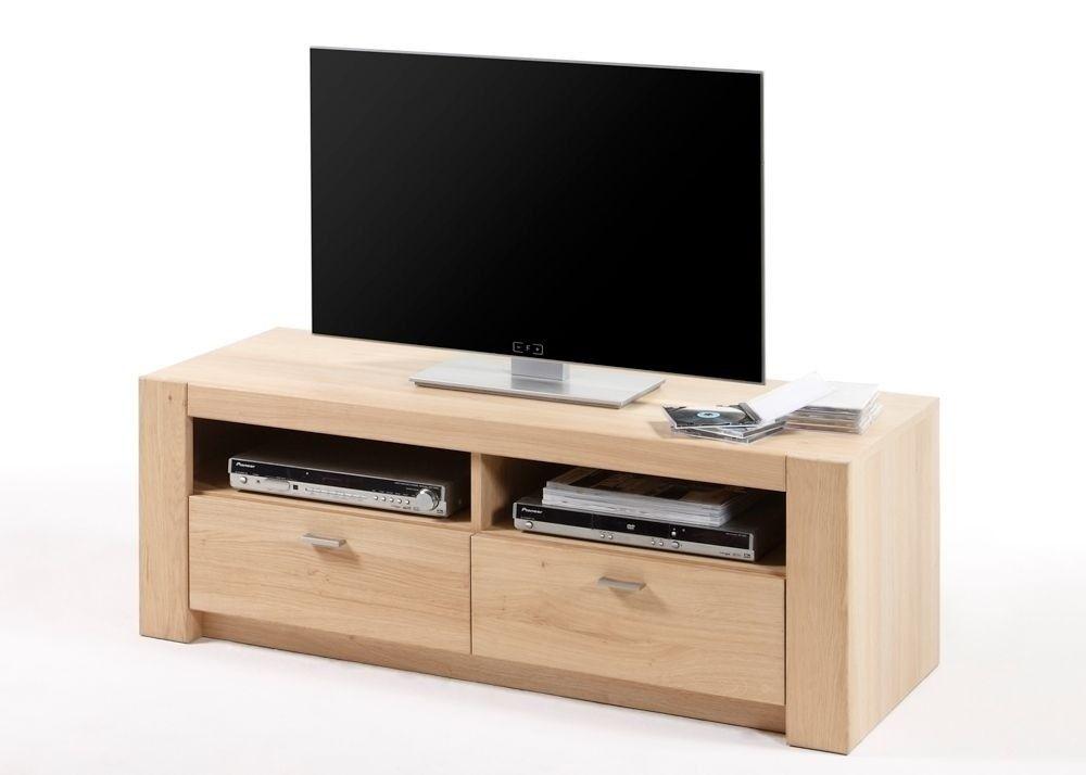 Lowboard Eiche Bianco Madeira TV-Schrank Holz Teilmassiv 9199 Buy - led für wohnzimmer