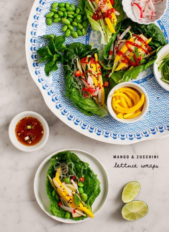 Mango Zucchini Lettuce Wraps Love And Lemons Recipe Raw Food Recipes Raw Food Diet Raw Diet