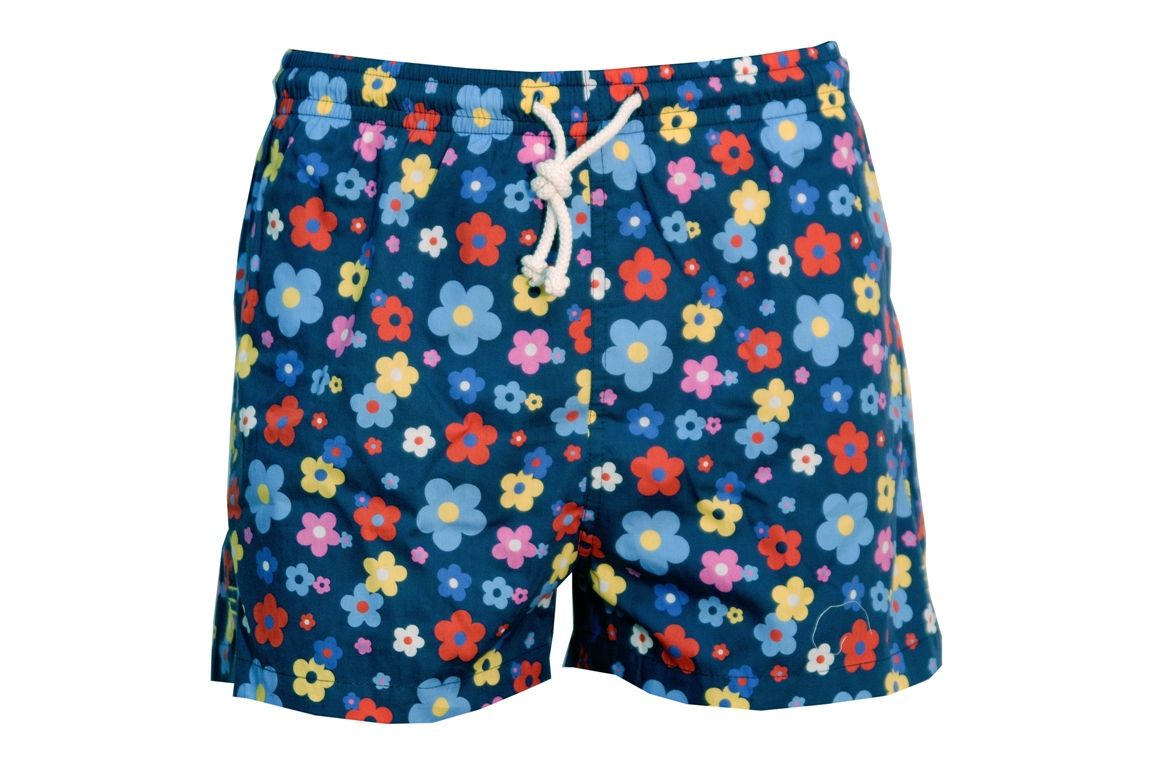 Flowery swimming shorts available at Mario Rubinacci London - See how many they have in stock using udozi.com #holiday #summer #swimwear