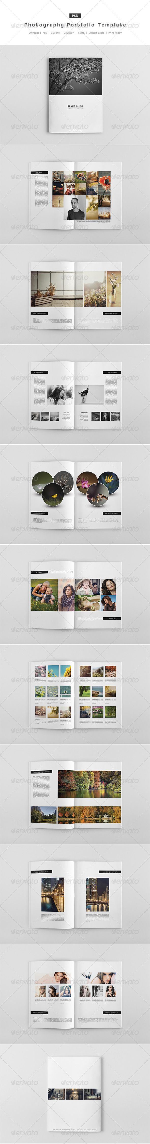 Photography Portfolio Template Photography Portfolio Brochures - Photography portfolio template