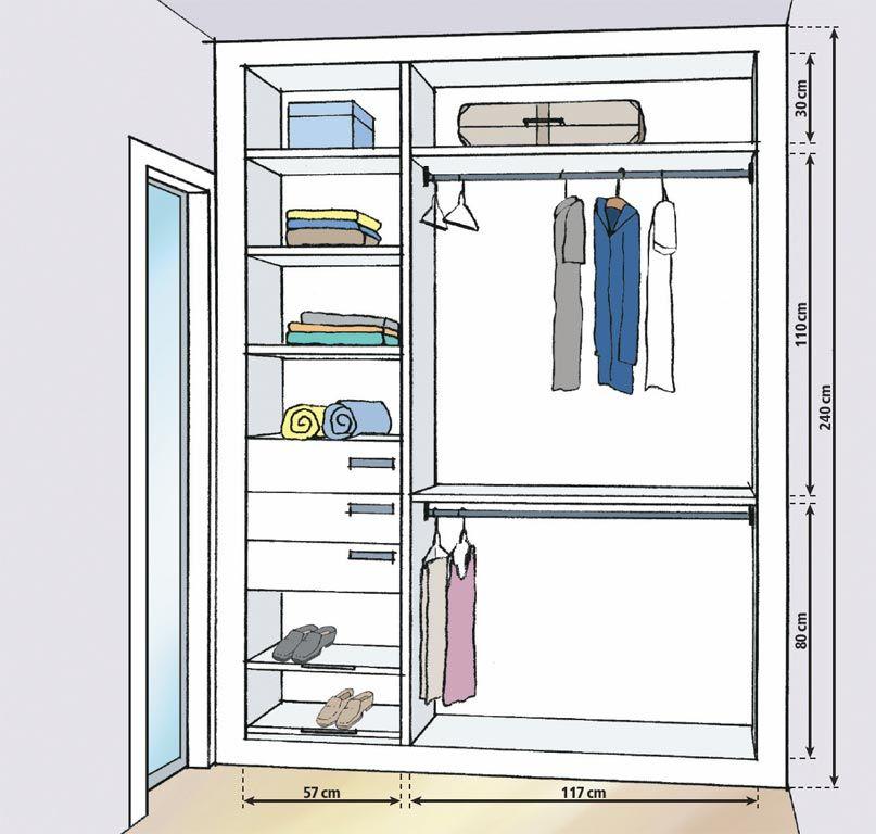 Dicas para organizar o closet decor em a o medidas for Planos de closet