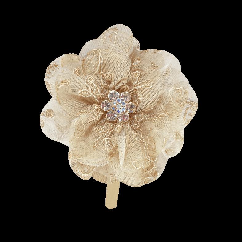 tiara flor renda formosura
