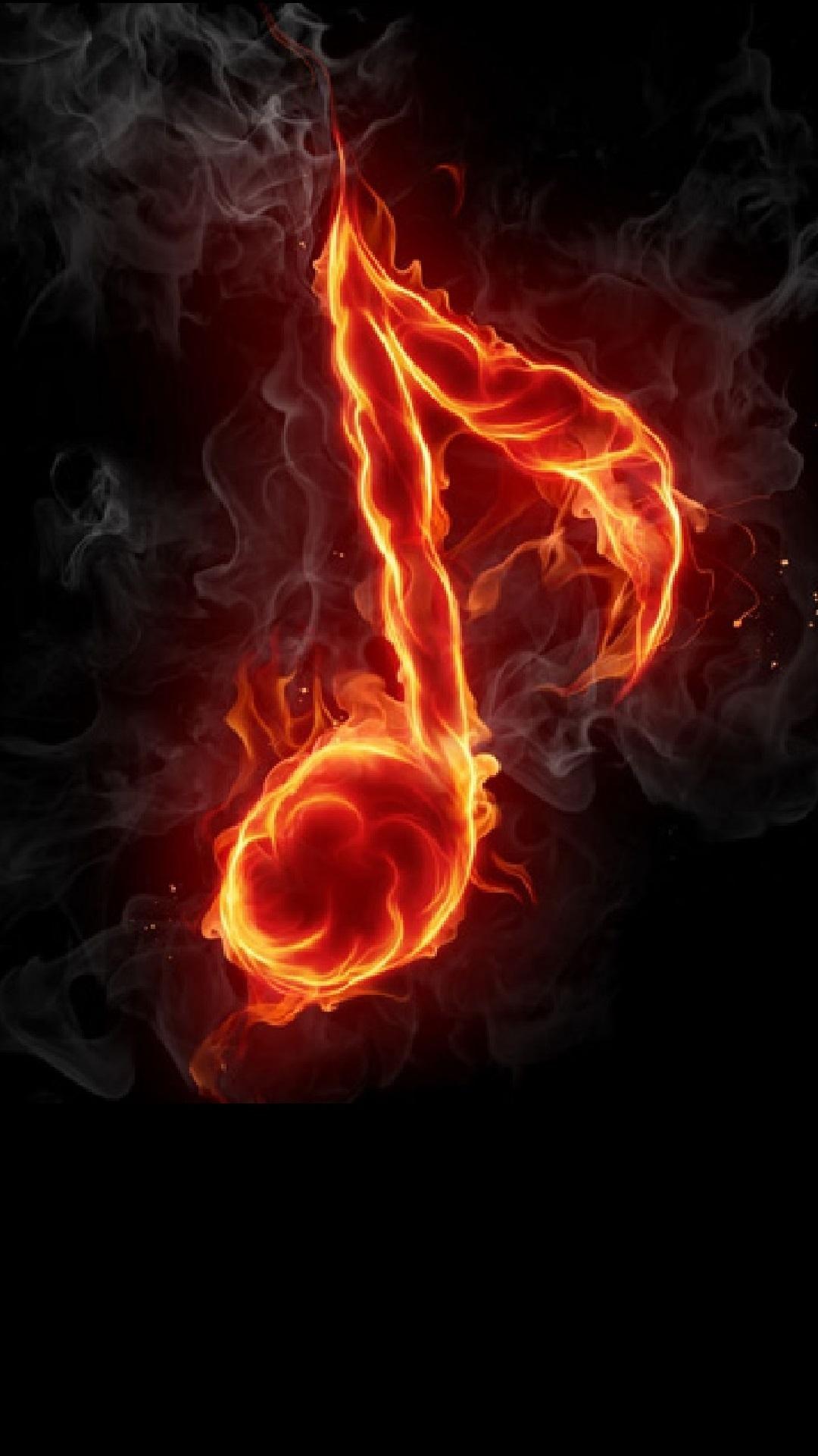 Music Note Fire Music Wallpaper Music Notes Music Artwork