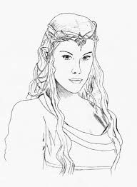 Image result for Lord of the Rings Arwen coloring page | Lord of the ...