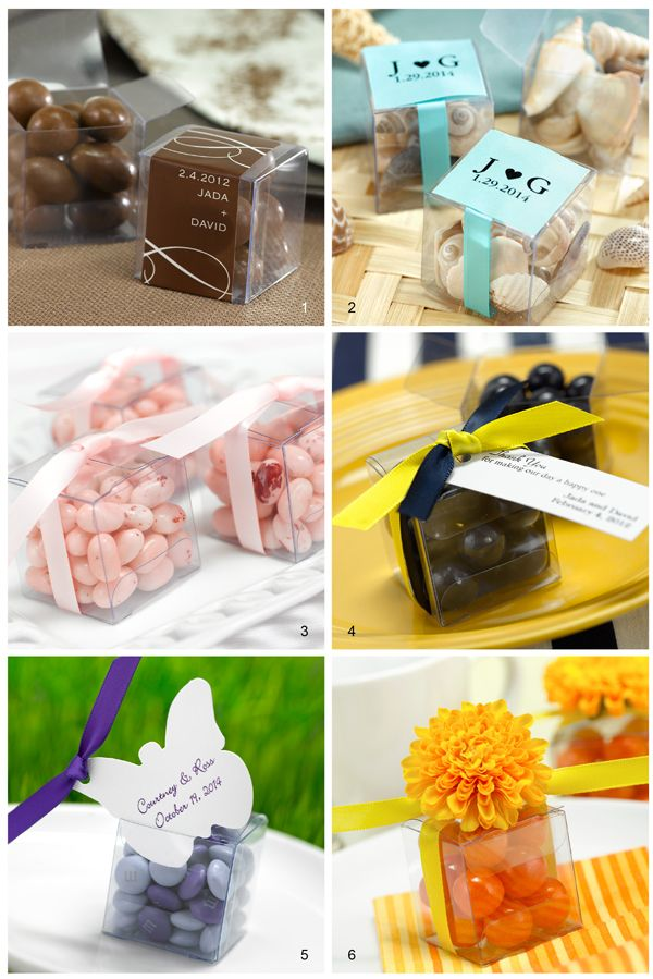 Diy Wedding Favors Get 6 Different Looks With 1 Favor Box Wedding