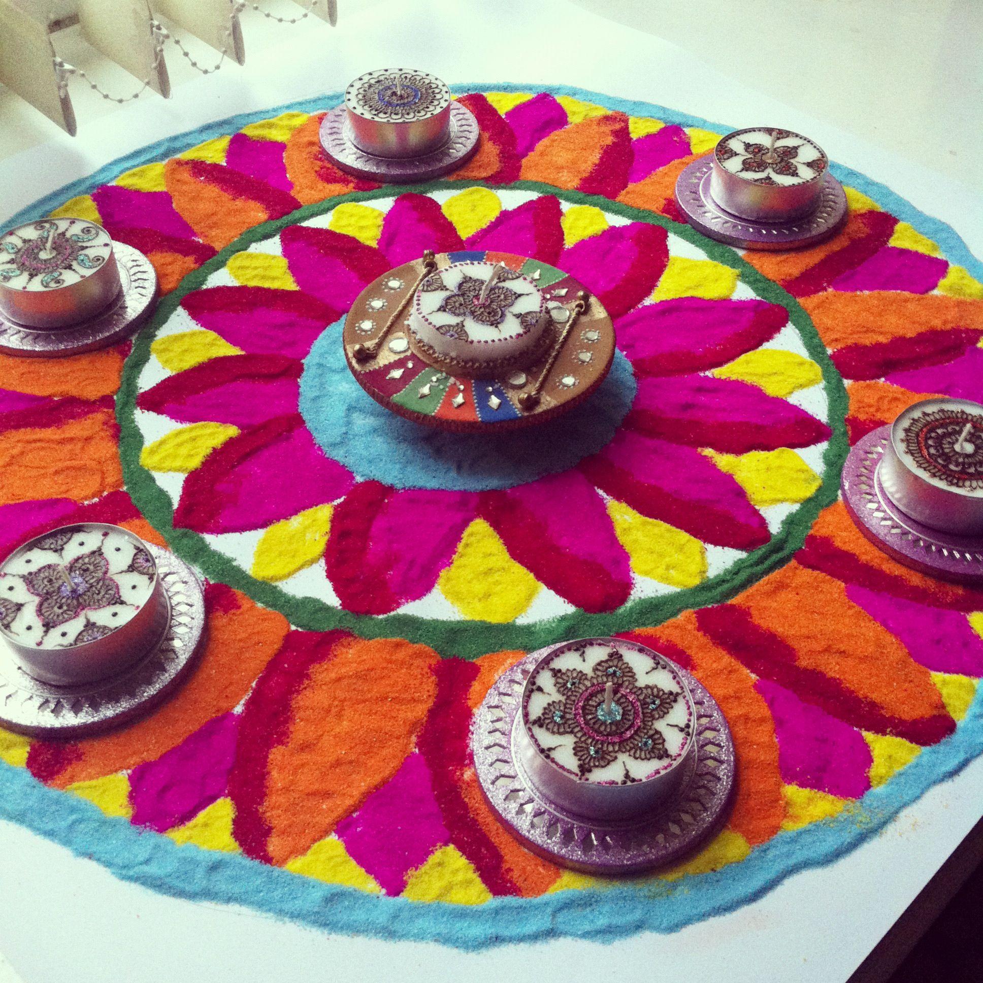 Rose petals n flowers.. Flower rangoli, Rangoli designs