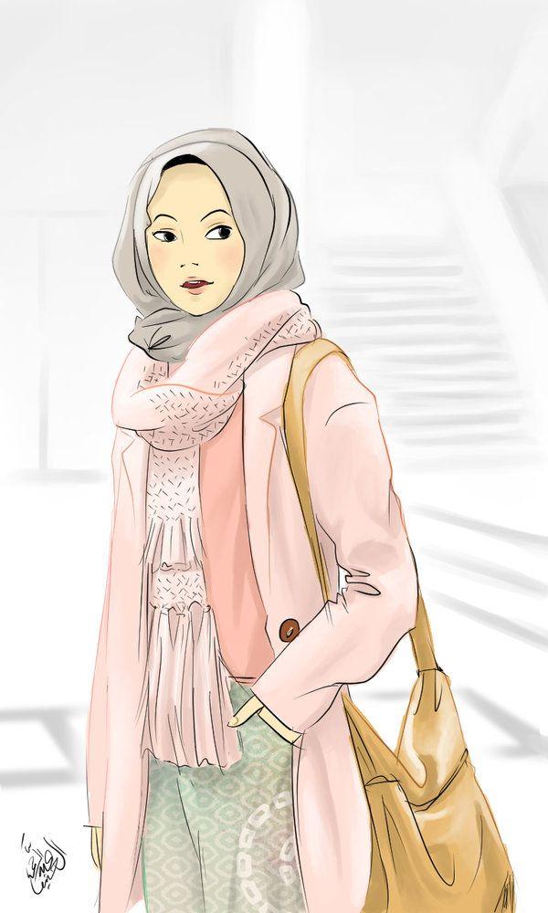 Hijab Casual Hijab Drawing Hijab Casual Hijab Cartoon
