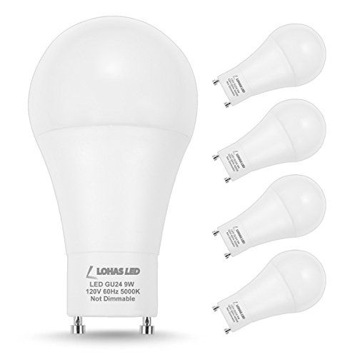 Lohas Gu24 Bulb A19 Led Bulb 60w Equivalent 9w Led 5000k Daylight Bulbs Non Dimmable Lights For Home 240 Degree Bea Led Bulb Daylight Bulbs Led Light Bulbs