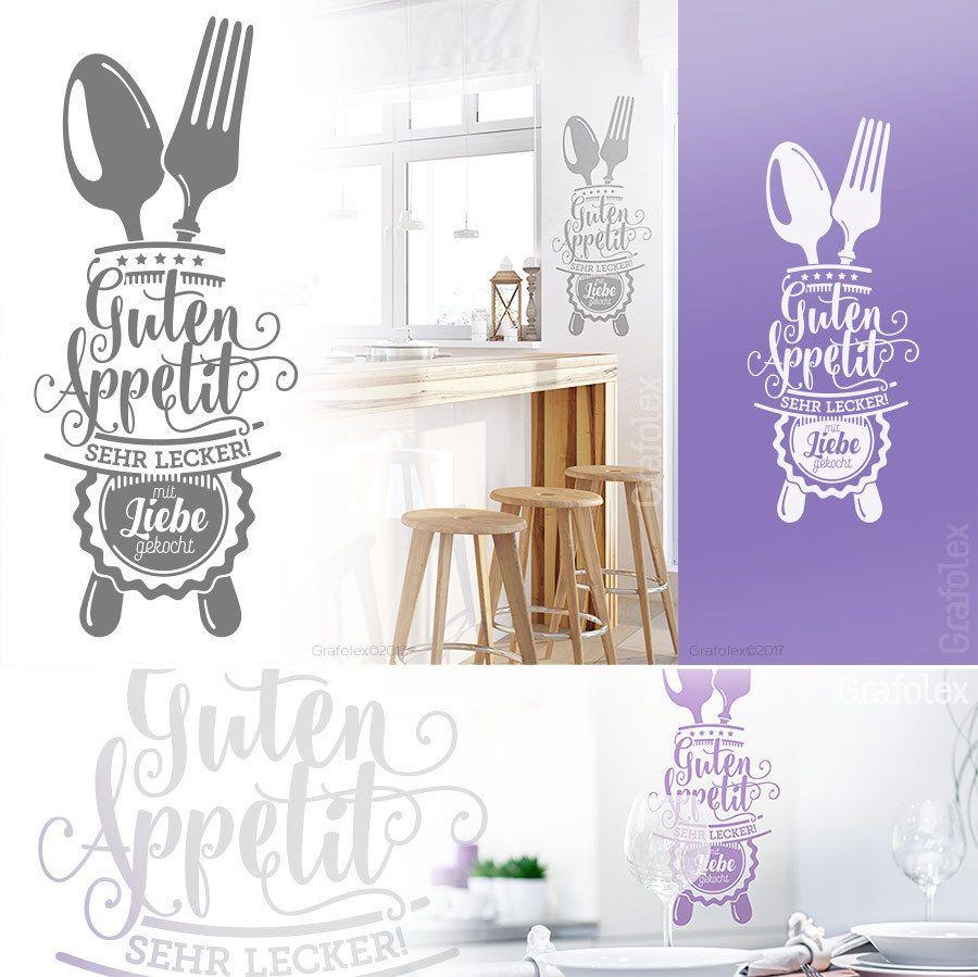 Guten Appetit Wandtattoo Für Küche Esszimmer Cafe Deko Sprüche Wandsticker  W503b