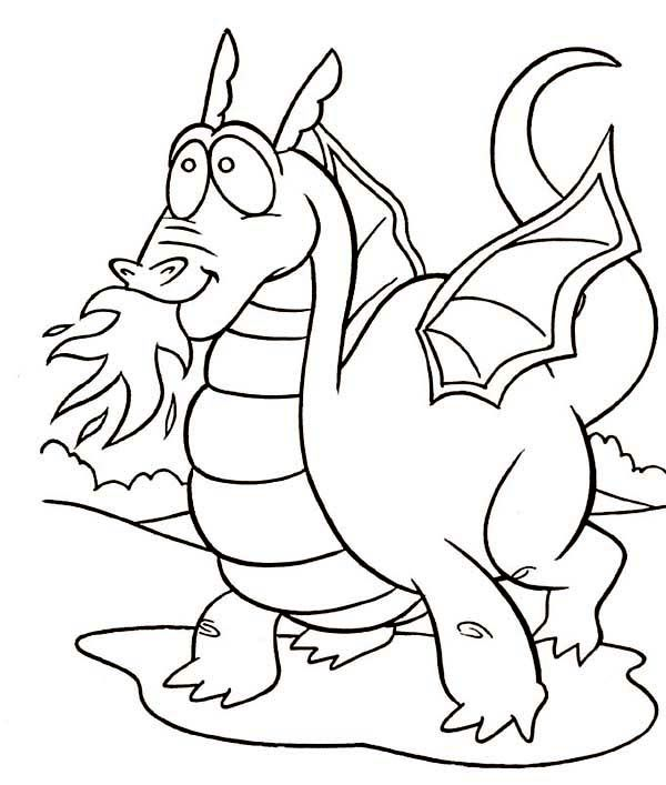 Dragon Coloring Pages Printable   Dragon coloring page ...