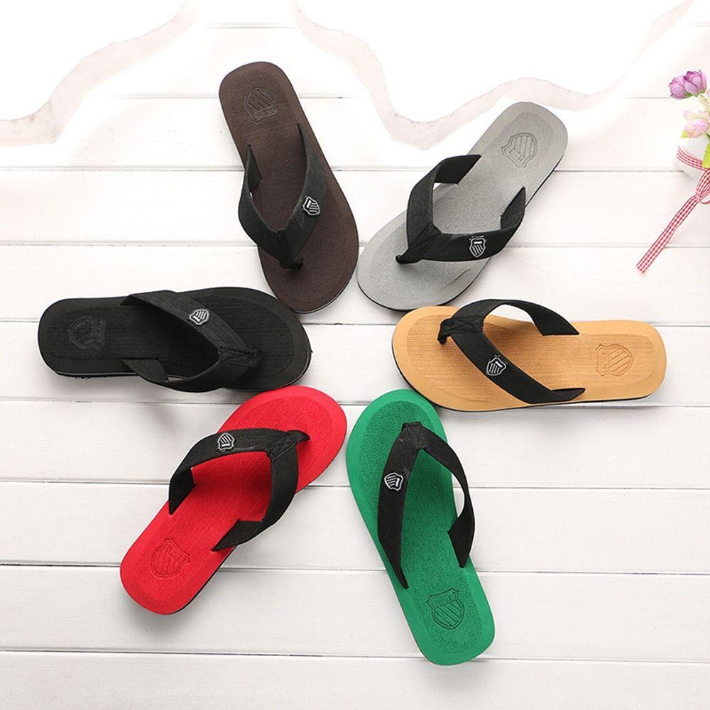 2020 Summer Men Flip Flops High Quality Beach Sandals Non-slide Male Slippers  Anti-slip Casual S…