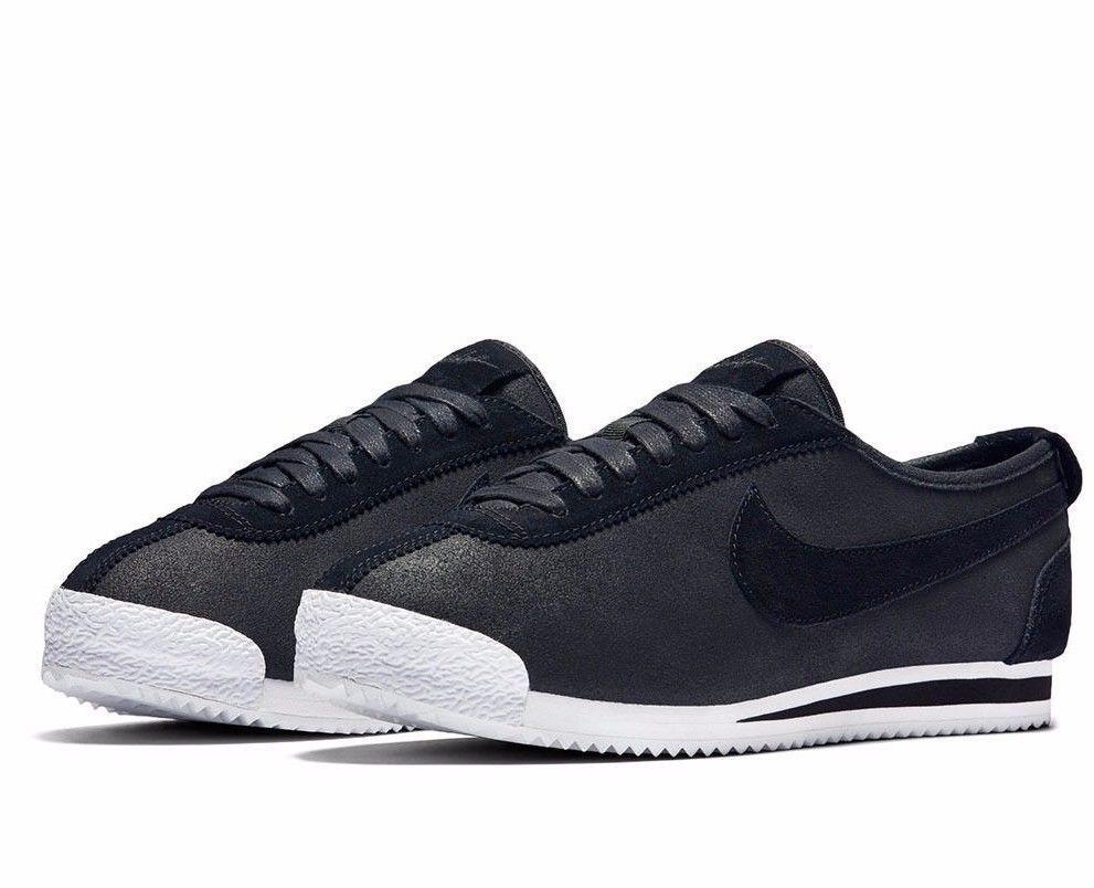best service acfe3 1da60 Nike Cortez 72 Mens Shoes 10 Black Metallic Pewter White 863173 001 Nike