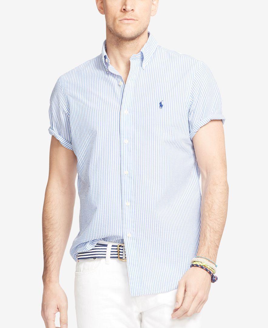 21669b2b9 Polo Ralph Lauren Short-Sleeve Seersucker Shirt | 拉夫 | Seersucker ...