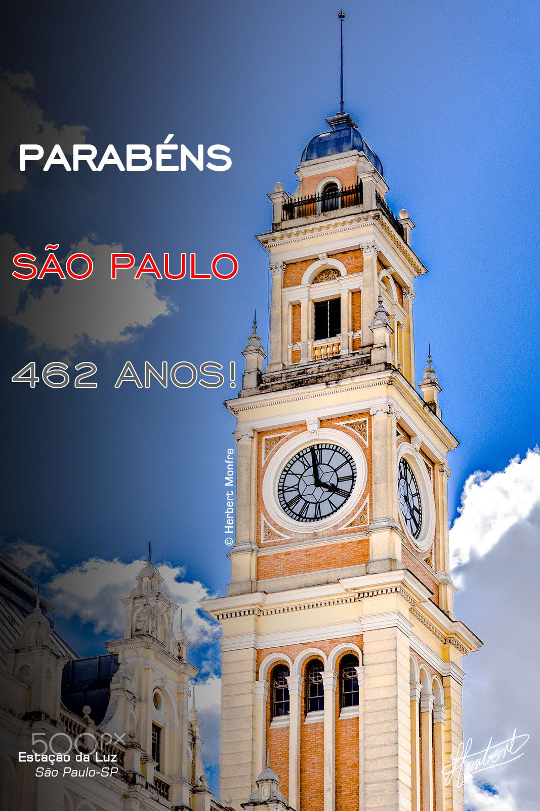 Parabéns SÃO PAULO | 462 anos