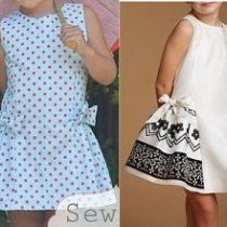 Vestido Infantil Con Volante Lateral Baby Dress Patterns Kids Dress Kids Fashion
