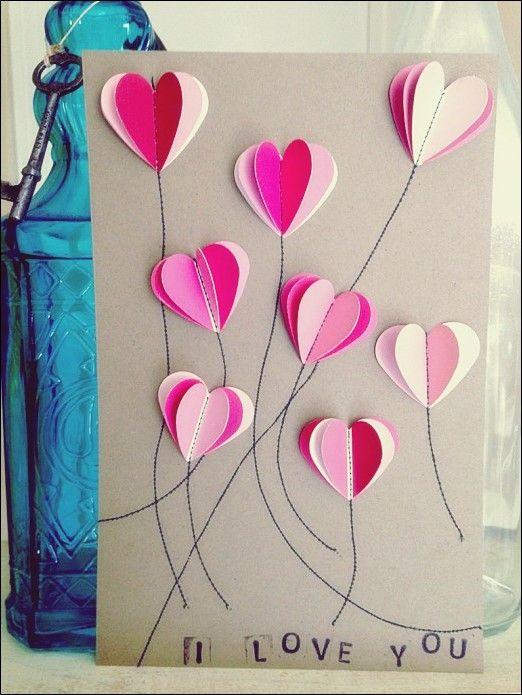 Geben Sie einige handgemachte Liebe mit diesen 21 DIY Valentinstag Karten aus  #diesen #einige #geben #handgemachte #karten #liebe #valentinstag