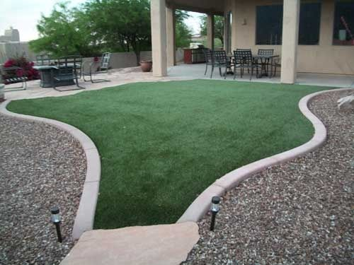 Lights so you can see when they potty! | Turf backyard ...