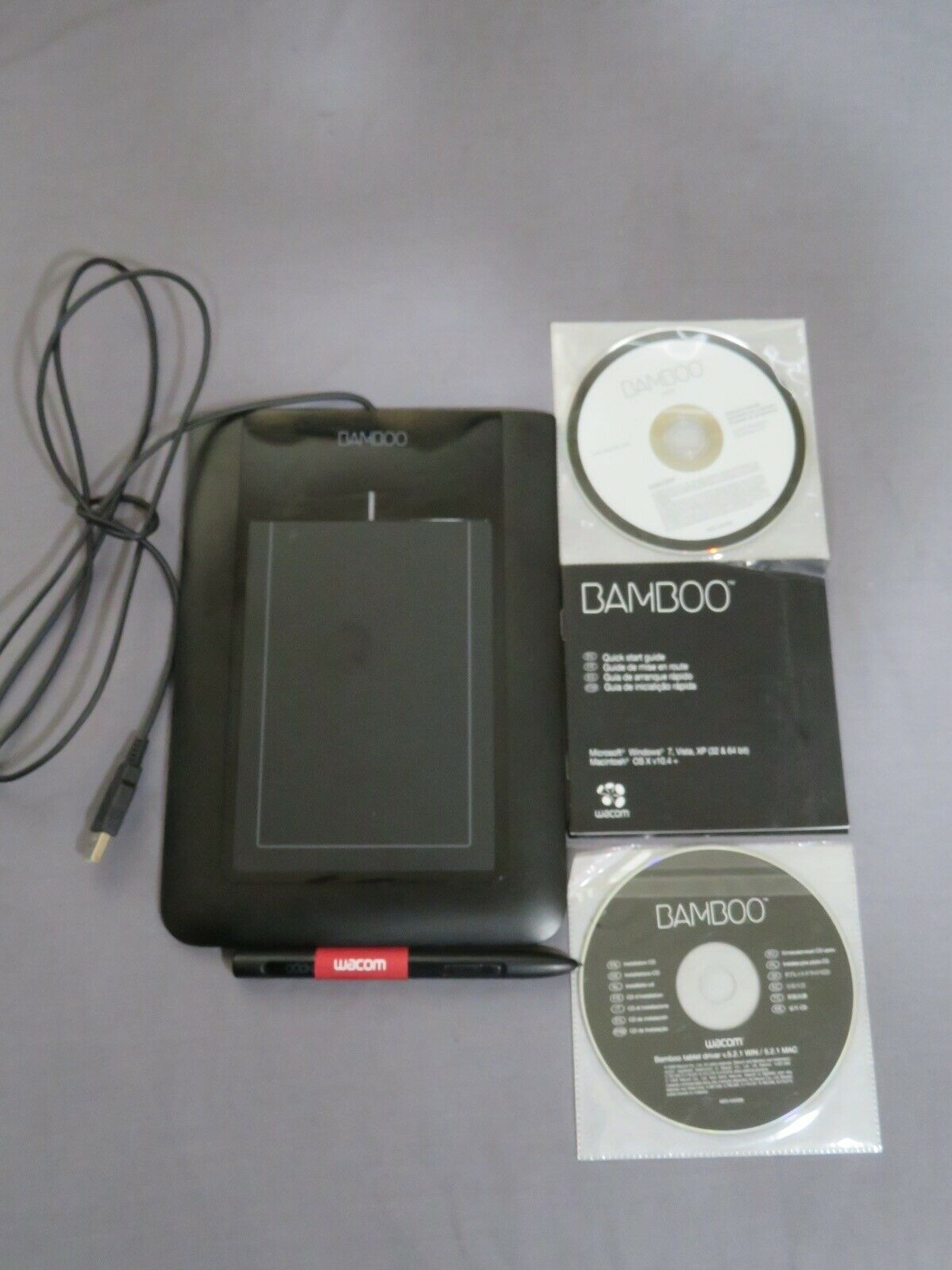 Wacom Bamboo Tablet Ctl 460 Graphics Drawing Tablet Includes Pen