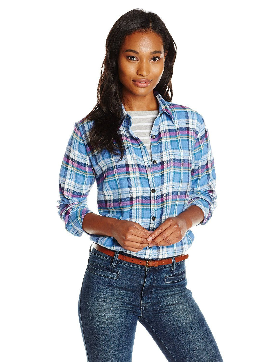 Long Sleeve Plaid Flannel Shirt by Dickies